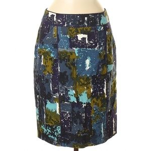 ANTHROPOLOGIE Tabitha Abstract Liquid Acres Skirt